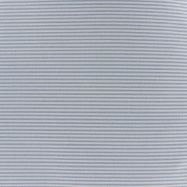 Percale cotton fabric (3m) Rayures - sky blue x 10cm