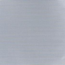 Tissu percale de coton grande largeur Rayures - bleu ciel x 10cm