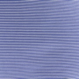 Percale cotton fabric (3m) Rayures - navy x 10cm