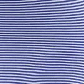 Tissu percale de coton grande largeur Rayures - navy x 10cm