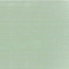Percale cotton fabric (3m) Rayures - light green x 10cm