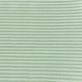 Tissu percale de coton grande largeur Rayures - vert clair x 10cm