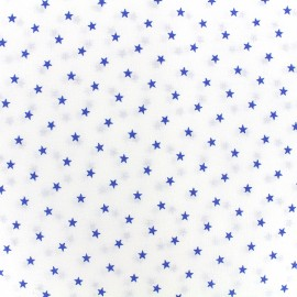 Percale cotton fabric (3m) Etoiles - navy x 10cm