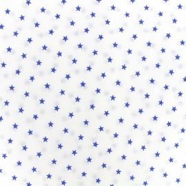Tissu percale de coton grande largeur Etoiles - navy x 10cm
