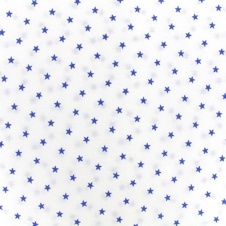 Percale cotton fabric (3m) Etoiles - navy x 10cm