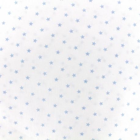 Percale cotton fabric (3m) Etoiles - light blue x 10cm