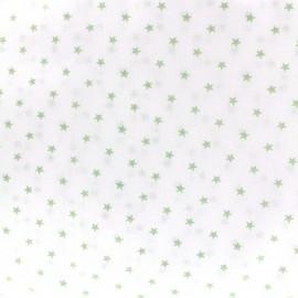 Tissu percale de coton grande largeur Etoiles - vert clair x 10cm