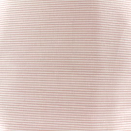 Percale cotton fabric (3m) Rayures - pink x 10cm
