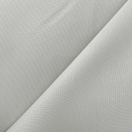 Tissu toile polyester - gris perle x 10cm