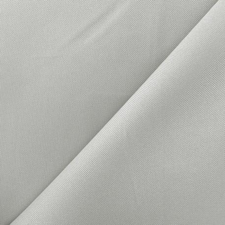 Tissu toile polyester - gris perle x 10cm
