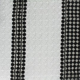 Tissu Dentelle Black&white x 10cm