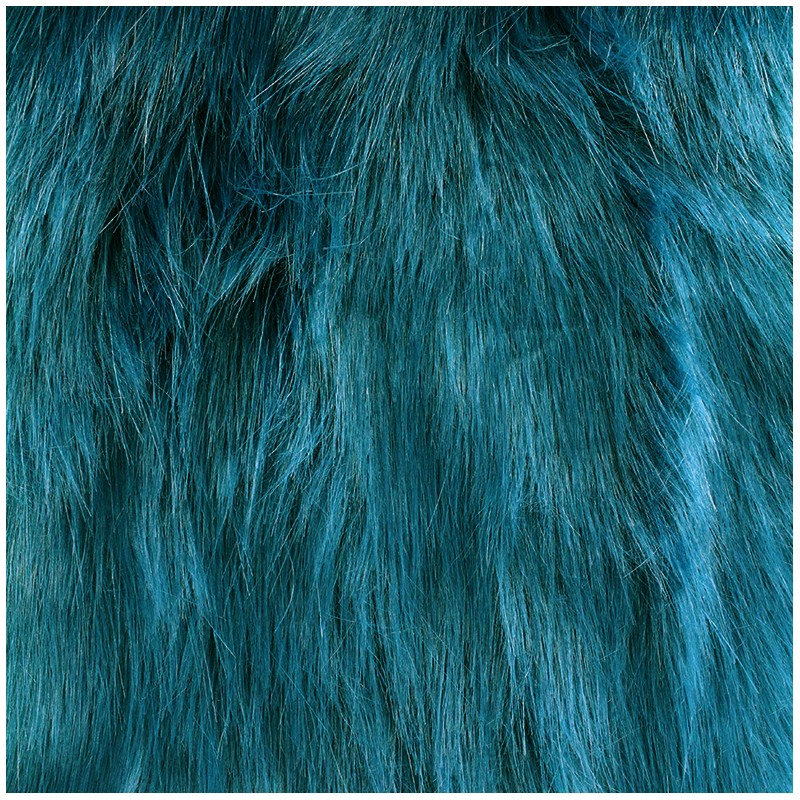 Fourrure Yeti Bleu Canard X 10cm Ma Petite Mercerie