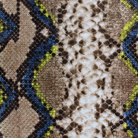 Simili cuir Python - bleu x 10cm