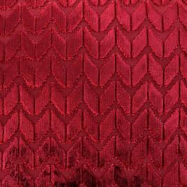 Tissu Velours Champs Elysées - rubis x 10cm
