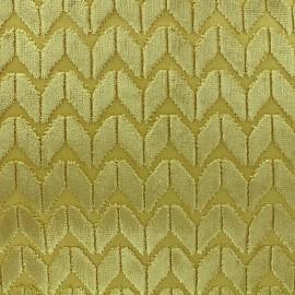 Velvet fabric Champs Elysées - citrus x 10cm