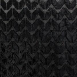 Velvet fabric Champs Elysées - black x 10cm