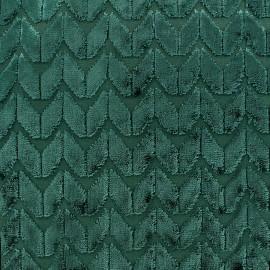 Tissu Velours Champs Elysées - émeraude x 10cm