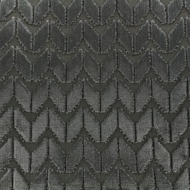 Velvet fabric Champs Elysées - mouse x 10cm