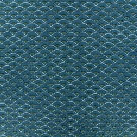 Tissu coton Koï - émeraude x 10cm
