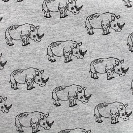 Jersey fabric Rhino - grey x 10 cm