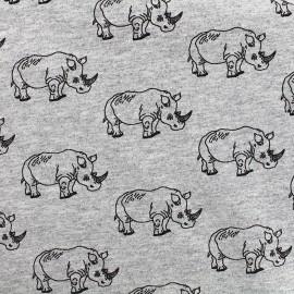 Tissu Jersey Rhino - gris x 10 cm