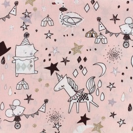 Tissu Poppy Circus Stars - rose x 30cm
