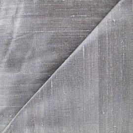 Tissu soie sauvage - gris clair x 10cm