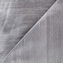 Wild Silk Fabric -  grey x 10cm