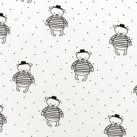 Jersey fabric P'tit ours - écru x 10 cm