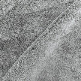 Tissu Piloudou uni - gris souris x 10cm