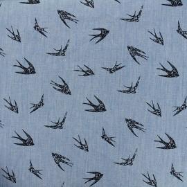 Fluid jeans fabric Hirondelle - navy/blue x 10cm