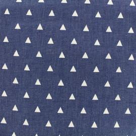 Fluid jeans fabric Delta - blue x 10cm