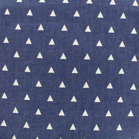 Fluid jeans fabric Delta - blue x 10cm