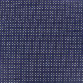 Tissu coton popeline Koki - bleu x 10cm