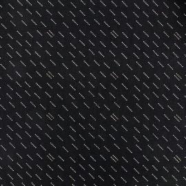 Tissu popeline Nao - noir x 10cm