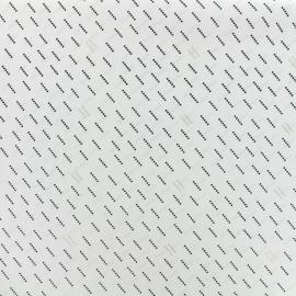♥ Coupon 20 cm X 140 cm ♥  Tissu polyester effet mat Nao - écru