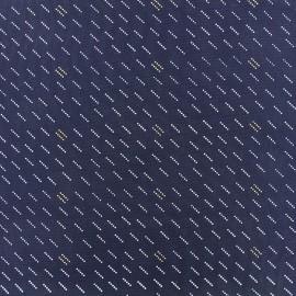 Tissu popeline Nao - marine x 10cm