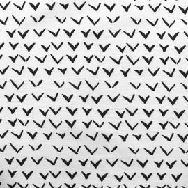 Tissu Gabardine Lycra légère Vol - noir x 10cm