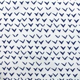 Tissu Gabardine Lycra légère Vol - bleu x 10cm
