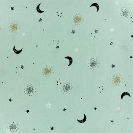 Tissu Poppy Circus Stars Moon - vert clair x 10cm