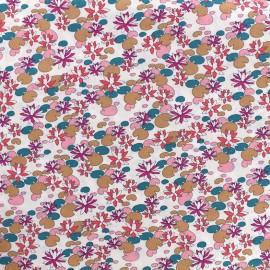 Tissu coton Nénuphar - rose x 10cm
