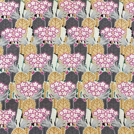 Cotton fabric Floral - pink x 10cm