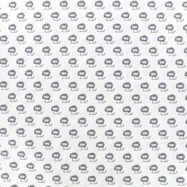 Tissu Poppy Tiny Creatures Lion - blanc x 10cm