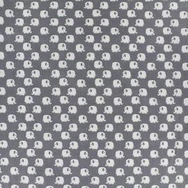 Tissu Poppy Tiny Creatures Elephant - gris x 10cm