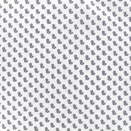Tissu Poppy Tiny Creatures Duck - blanc x 10cm