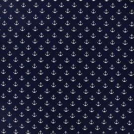 Tissu Poppy Marine Anchor - bleu nuit x 10cm