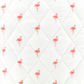 Quilted cotton fabric Flamingo - coral x 10cm