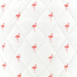 Tissu matelassé Flamingo - corail x 10cm