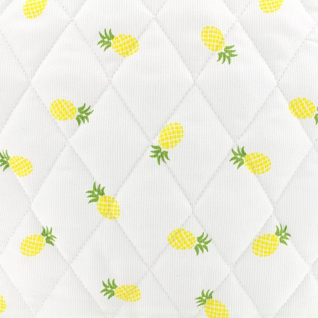 Quilted cotton fabric Ananas - yellow x 10cm