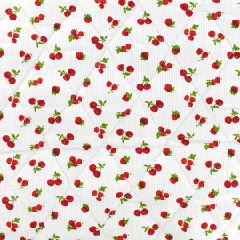 ♥ Coupon 20 cm X 150 cm ♥ Quilted cotton fabric Cerise - red